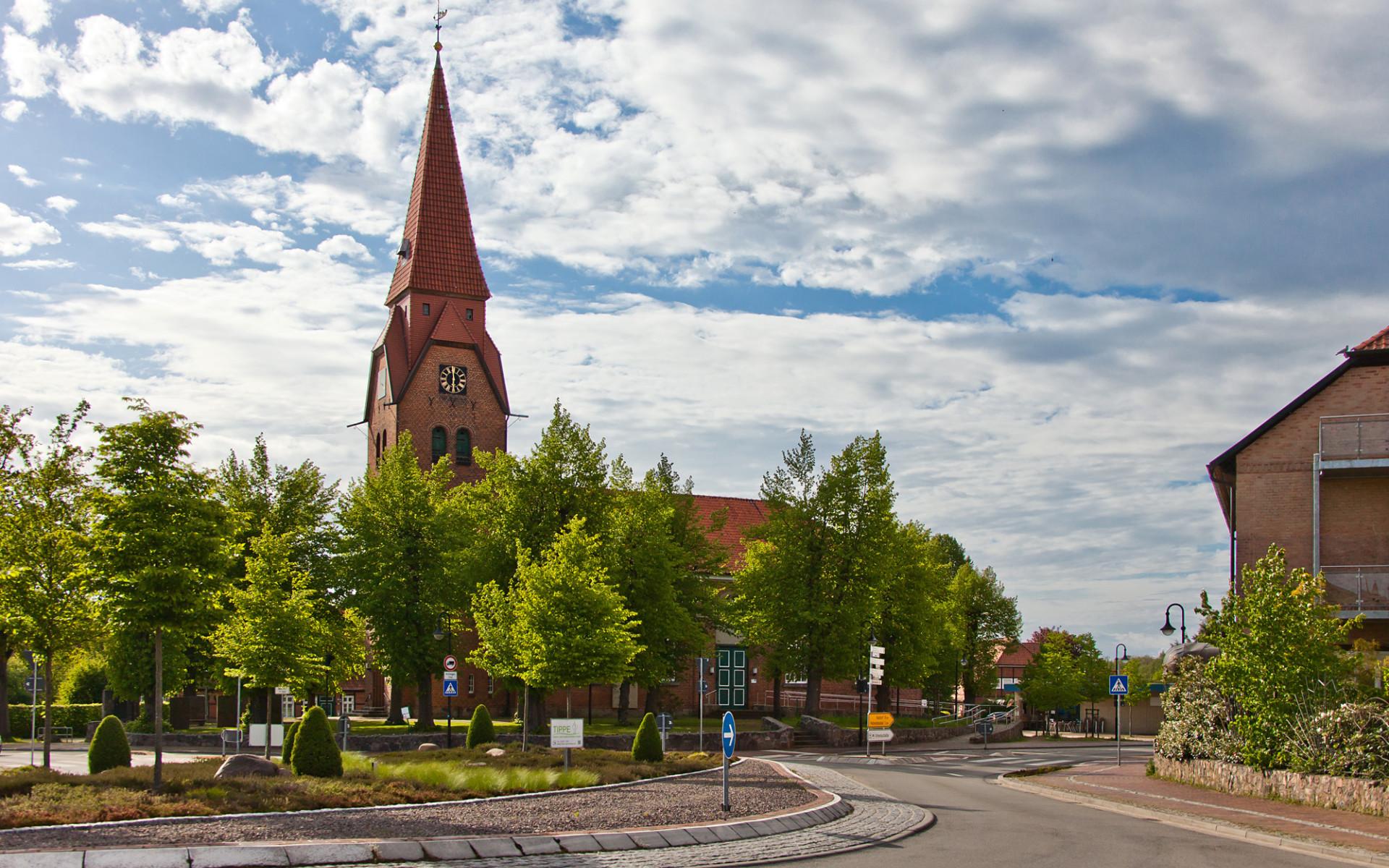 Blick auf die Bienenbüttler Kirche