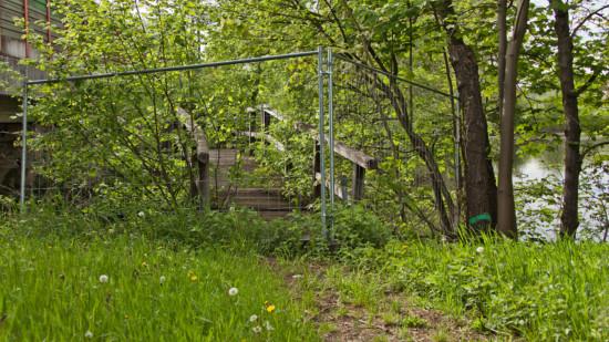 Blick auf die Brücke beim Mühlenteich